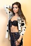 Sensual brunette posing Stock Photo