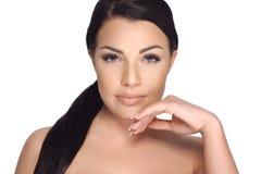 Sensual Brunette Woman in Beauty Shoot Stock Photography