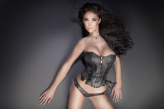 Sensual brunette woman Royalty Free Stock Photo