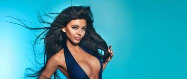 Sensual brunette woman posing Stock Images