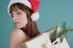 Sensual christmas Stock Images