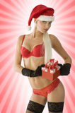 Sensual christmas in red Stock Photography