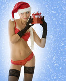 Sensual christmas in red Royalty Free Stock Image