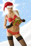 Sensual christmas in red Stock Photo