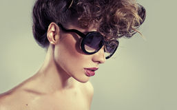 Sensual classic woman with amazing lips Royalty Free Stock Photo