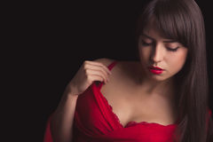 Sensual cleavage Stock Images