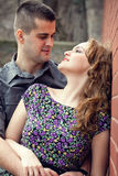 Sensual couple in love Stock Images