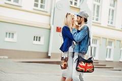 Sensual couple in love outdoor Stock Photo
