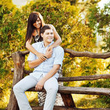Sensual couple in love outdoor Royalty Free Stock Photos