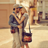 Sensual couple in love outdoor Royalty Free Stock Photo