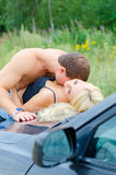 Sensual couple making love. Stock Images
