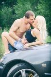 Sensual couple making love. Stock Photography