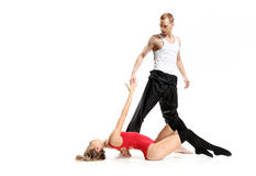 Sensual dance of two people Stock Image