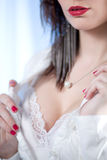 Sensual detail of beautiful woman Royalty Free Stock Photography