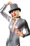 Sensual disco girl Royalty Free Stock Photos