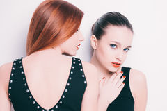 Sensual double portrait Stock Images