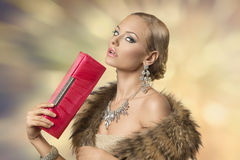 Sensual elegant fashion girl Stock Images