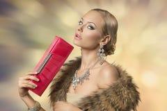 Sensual elegant fashion girl Stock Images