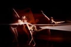 The sensual and emotional dance of beautiful ballerina Stock Image