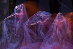 Sensual and emotional dance of beautiful ballerina Stock Image