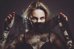 Sensual eyes of elegant woman Stock Images