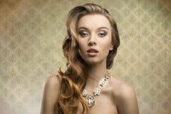 Sensual fashion aristocratic girl royalty free stock image