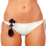 Sensual female body with white bikini Royalty Free Stock Image