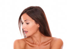Sensual female looking to her right Stock Image