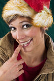 Sensual female Santa Claus Stock Image