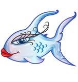 Sensual fish cartoon Stock Photo