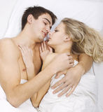 Sensual foreplay Royalty Free Stock Images