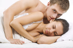 Sensual foreplay Stock Photography