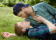 Sensual Gay Couple stock images