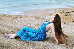 Sensual girl on the beach Royalty Free Stock Photography