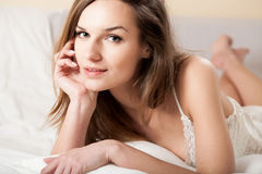 Sensual girl in bed Stock Image