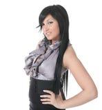 Sensual girl in fashion dress, studio shot. Photo Stock Image