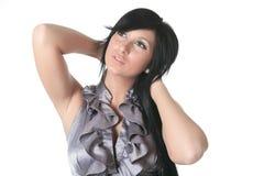 Sensual girl in fashion dress, studio shot. Photo Royalty Free Stock Images