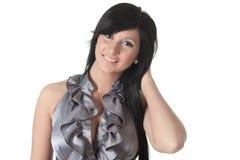Sensual girl in fashion dress, studio shot. Photo Stock Photography