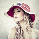 Sensual girl in the hat Stock Image