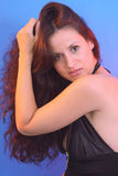 Sensual girl with long hair Stock Images