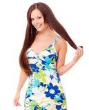 Sensual girl with long hair Stock Photo