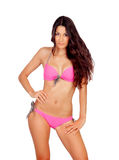 Sensual girl with pink bikini Royalty Free Stock Photos