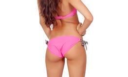 Sensual girl with pink bikini Stock Images