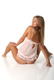 Sensual girl in pink lingerie Royalty Free Stock Photo