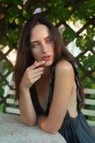 Sensual girl portrait. Outdoor shot Stock Photos