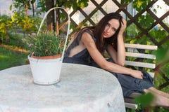 Sensual girl portrait. Outdoor shot Royalty Free Stock Photos