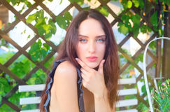 Sensual girl portrait. Outdoor shot Royalty Free Stock Images