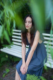 Sensual girl portrait. Outdoor shot Royalty Free Stock Photography