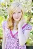 Sensual girl portrait posing outdoors Stock Photos