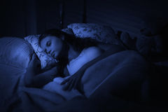 Sensual girl sleeping in the bedroom Royalty Free Stock Photos